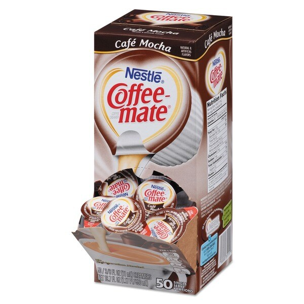 Coffee-mate Cafe Mocha Liquid Coffee Creamers (Box of 200) 15831495