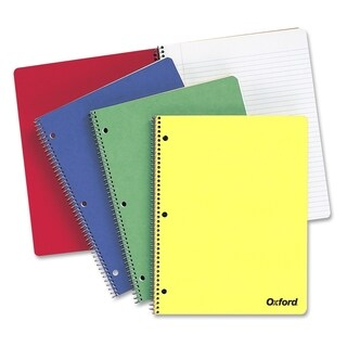 TOPS 1-Subject Wide Rule Wirebound Notebook - Assorted Color