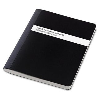 TOPS Poly Cover Wide Rule Composition Book - Black