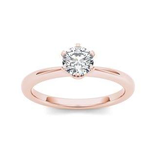 De Couer 14k Rose Gold 3/4ct TDW Diamond Classic Engagement Ring (H-I, I2)