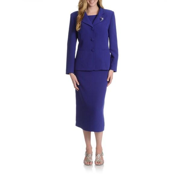 Cool Le Suit NEW Black TwoPiece ThreeButton Solid Women39s 10 Skirt Suit