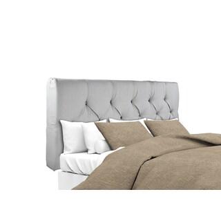 MJL Furniture Sachi Silver Diamond Tufted Upholstered Headboard