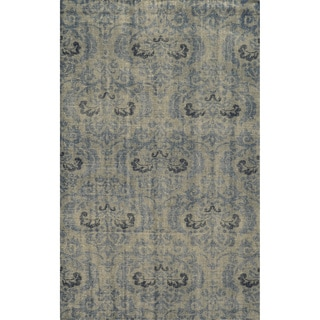 Hand-Knotted Abstract New Zealand Wool Grey Rug (3' x 5')