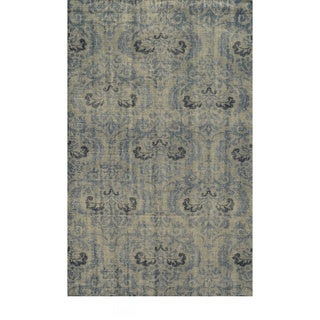 Hand-Knotted Abstract New Zealand Wool Grey Rug (8' x 10')