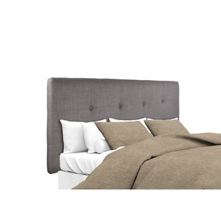 MJL Furniture Ali Button Tufted Grey-Red Tint Mid-century Style Upholstered Headboard