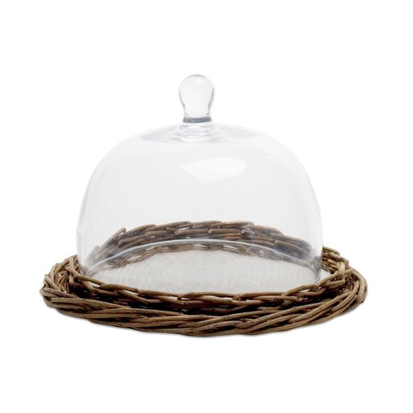 Tag Willow Cheese Glass Dome Small