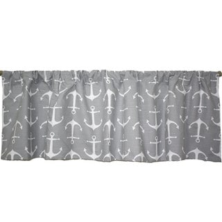 Taylor Marie 52-inch Nautical Anchor Grey Valance