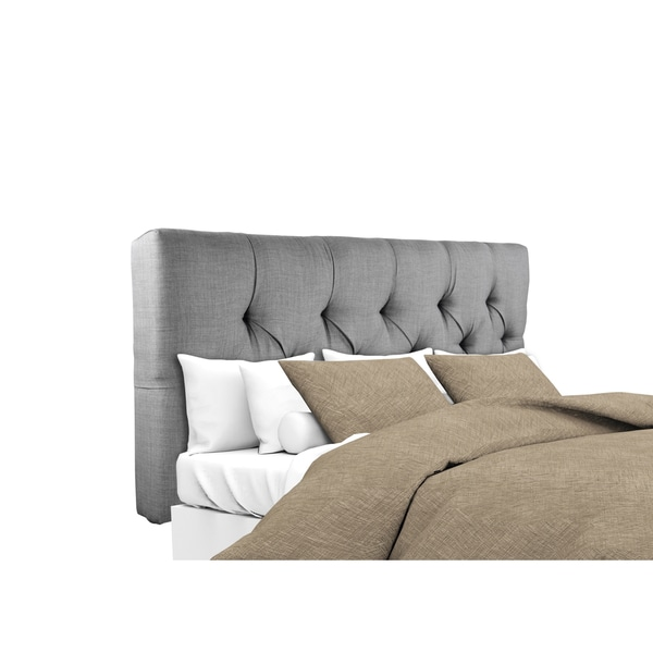 MJL Furniture Jackie Dark Grey Diamond Tufted Upholstered Headboard
