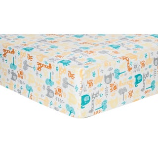 Trend Lab Lullaby Zoo Deluxe Flannel Fitted Crib Sheet
