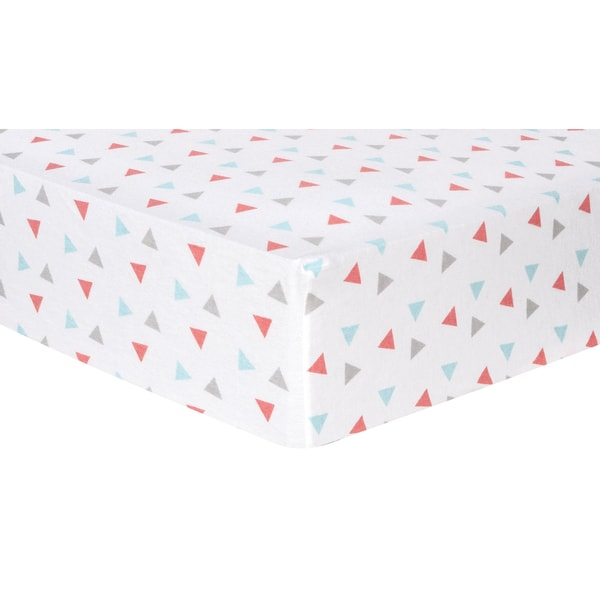 Trend Lab Coral Triangles Deluxe Flannel Fitted Crib Sheet