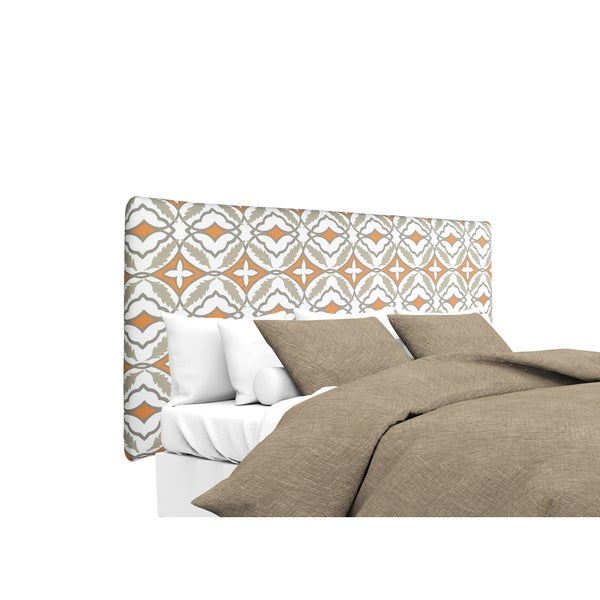 MJL Furniture Alice Eden Cinnamon Designer Upholstered Headboard