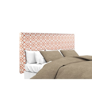 MJL Furniture Alice Noah Sunset Orange Upholstered Headboard