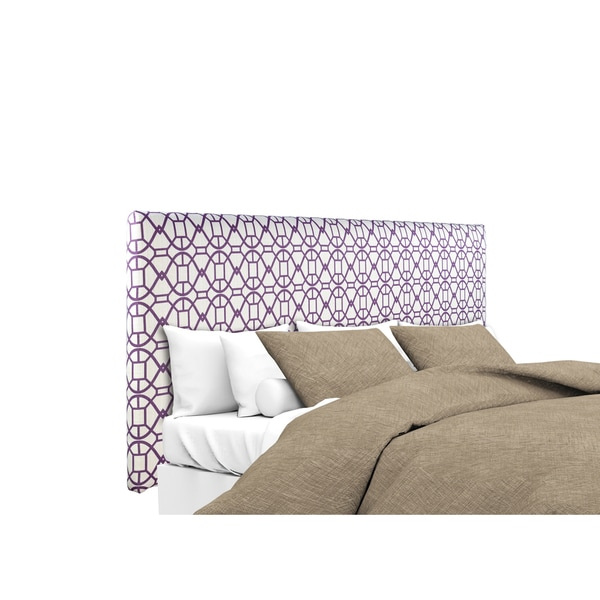 MJL Furniture Alice Noah Vinvi Purple Upholstered Headboard