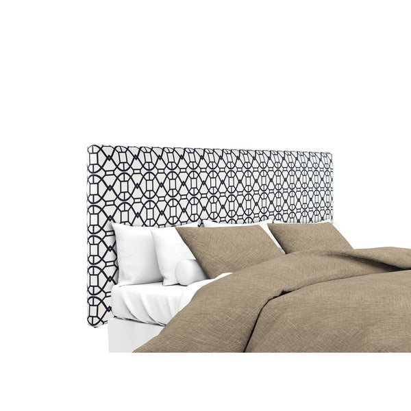 MJL Furniture Alice Noah Windsor Black and White Upholstered Headboard