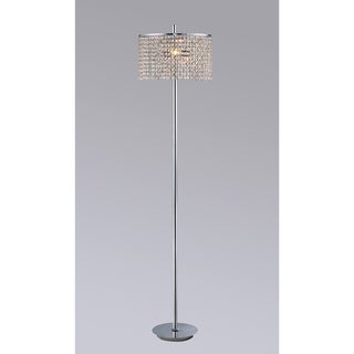 Mia 2-light Chrome-finished 65-inch Amber Crystal Floor Lamp