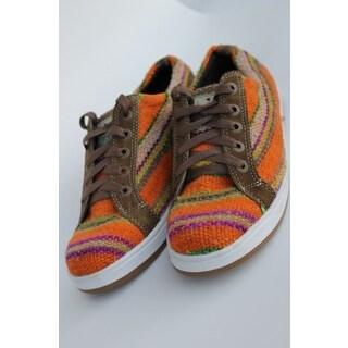 ANDIZ Handmade Orange/ Brown Low-cut Oxford Shoes (Ecuador)