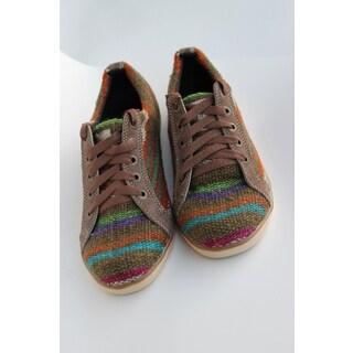 ANDIZ Handmade Green Low-cut Oxford Shoes (Ecuador)