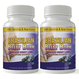 Brazilian Belly Burn Acai All Pure Diet Pill (Pack of 2)