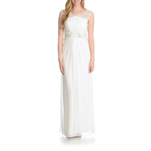 Decode 1.8 Women's Embellished Illusion Yoke/ Waistband Gown