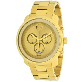 Movado Men's 3600278 Bold Round Gold Ion-Plated Stainless Steel Bracelet Watch