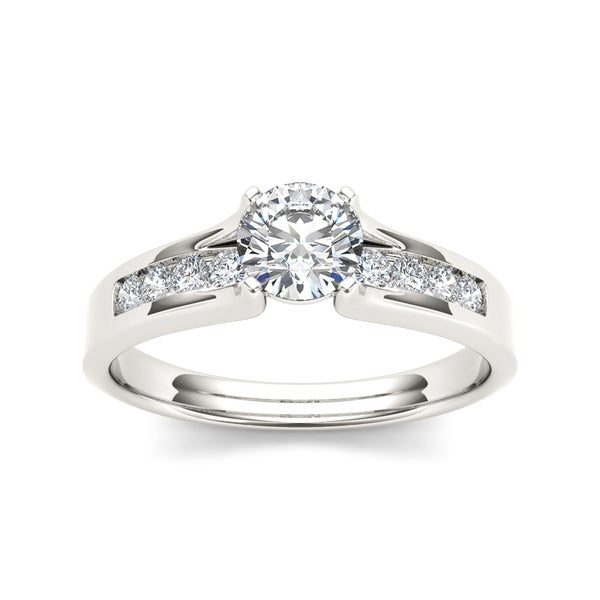 De Couer 14k White Gold 3/4 TDW Diamond Classic Engagement Ring (H-I, I2)