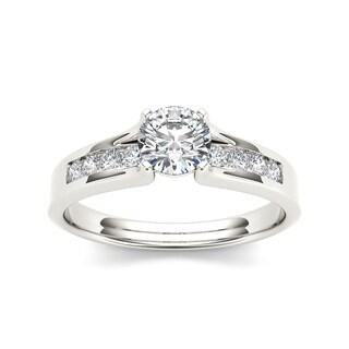 De Couer 14k White Gold 3/4 TDW Diamond Classic Engagement Ring (H-I, I2)