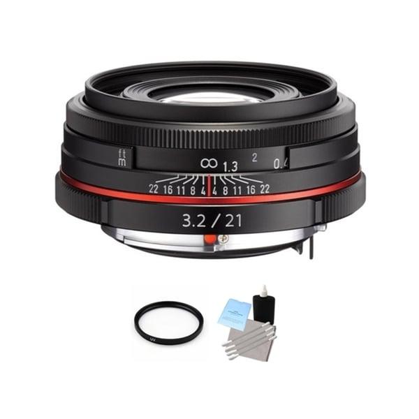 Pentax HD DA 21mm f/3.2 AL Limited Lens - Black + UV Filter & Cleaning Bundle