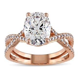 Miadora Signature Collection 18k Rose Gold 2 3/4ct TDW Certified Oval Diamond Engagement Ring (G, SI1) (GIA)