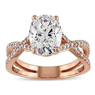 Miadora 18k Rose Gold 2 3/4ct TDW Certified Oval Diamond Engagement Ring (G, SI1) (GIA)
