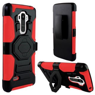 Insten Slim Hard PC/ Soft Silicone Dual Layer Hybrid Phone Case Cover with Stand For LG G Stylo