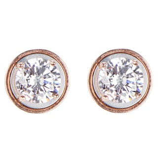 Sterling Silver Cubic Zirconia Magnetic Stud Earrings