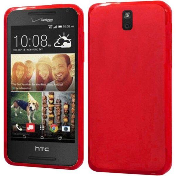 Insten Slim TPU Rubber Candy Skin Phone Case Cover For HTC Desire 612