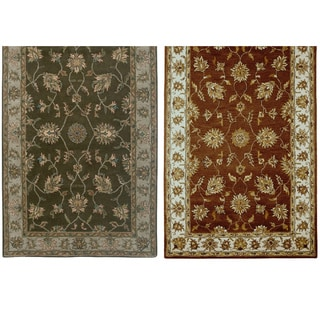Rizzy Home Volare Collection Hand-tufted Geometric Wool Rust/ Brown Rug (9' x 12')