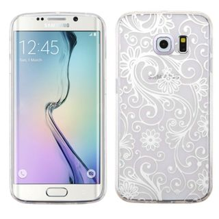 Insten Slim Four-leaf Clover TPU Rubber Candy Skin Phone Case Cover For Samsung Galaxy S6 Edge