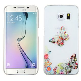 Insten White/ Colorful 3D Butterfly TPU Rubber Candy Skin Phone Case Cover For Samsung Galaxy S6 Edge