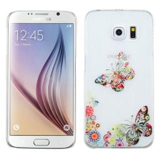 Insten Slim Colorful 3D Butterfly TPU Rubber Candy Skin Phone Case Cover For Samsung Galaxy S6