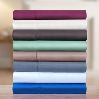 600 TC Cotton Rich 6-piece Hem Stitch Sheet Set with Bonus Pillowcases