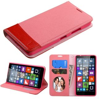 Insten Leather Wallet Flap Pouch Phone Case Cover with Stand/ Photo Display For Microsoft Lumia 640 Metro PCS/ 640 T-mobile