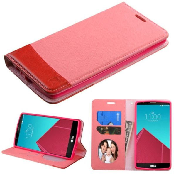 Insten Slim Leather Wallet Flap Pouch Phone Case Cover with Stand/ Photo Display For LG G4
