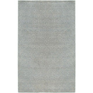 Rizzy Home Uptown Collection Handmade Solid Wool Grey Rug (9' x 12')