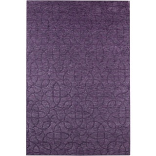 Rizzy Home Uptown Collection Handmade Solid Wool Purple Rug (8' x 10')