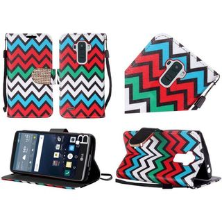 Insten Slim Leather Wallet Flap Pouch Phone Case Cover with Stand/ Lanyard/ Diamond For LG G Stylo