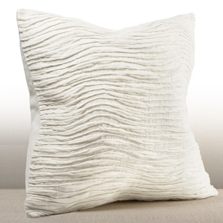 Belin Ivory Feather and Down-filled 16-inch Brushed Wool Pillow