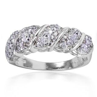DB Designs 1/4ct TDW Diamond Wave Design Ring (I-J, I2-I3)