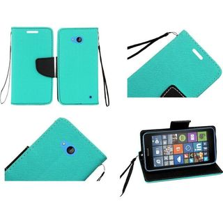 Insten Slim Leather Wallet Flap Pouch Phone Case Cover with Stand/ Lanyard For Microsoft Lumia 640