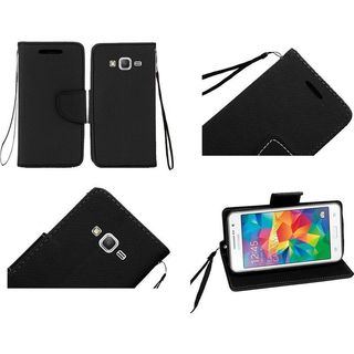 Insten Leather Wallet Flap Pouch Phone Case Cover with Stand/ Lanyard For Samsung Galaxy Grand Prime