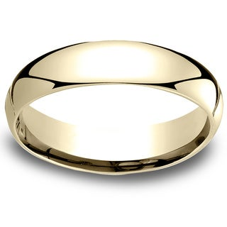 18k Yellow Gold Women's 5mm Comfort-Fit Wedding Band
