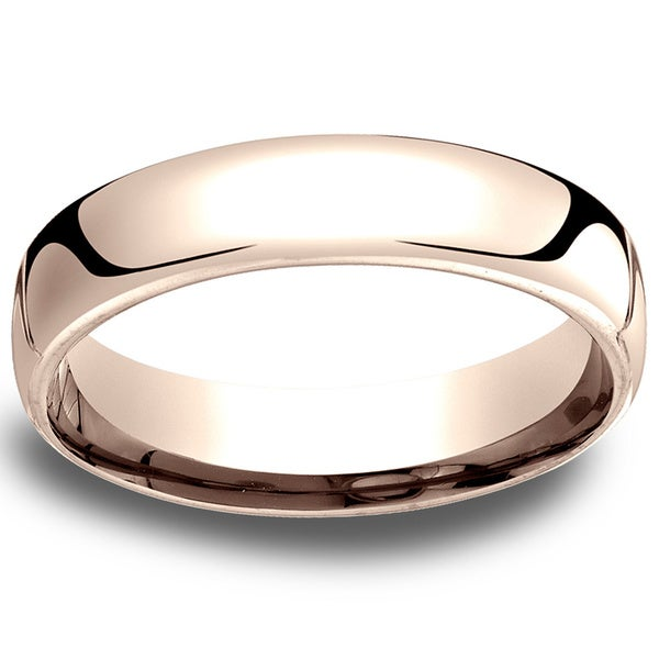 14k Rose Gold Low-dome 5.5mm Comfort-Fit Wedding Band