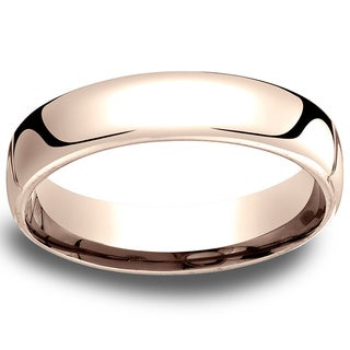 14k Rose Gold Men's Low-dome 5.5mm Comfort-Fit Wedding Band