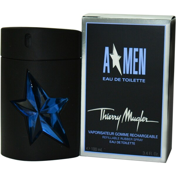 Thierry Mugler Angel Men's 3.4-ounce Eau de Toilette Spray Rubber Bottle (Refillable)